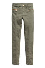 Twill biker trousers - Khaki green - Kids | H&M CN 2