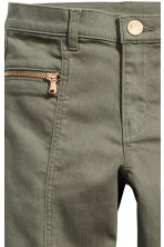 Twill biker trousers - Khaki green - Kids | H&M CN 4