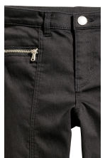 Twill biker trousers - Black - Kids | H&M 3