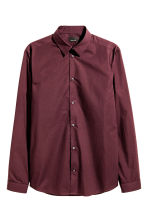 Premium cotton shirt - Burgundy - Men | H&M CN 2