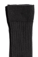 Ribbed socks - Black - Men | H&M CN 2