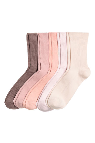 5雙入羅紋襪 - Powder pink - Ladies | H&M 1