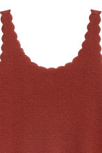 Vest top with scalloped edges - Dark red - Ladies | H&M 3