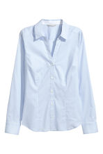 Fitted shirt - Light blue - Ladies | H&M 2