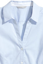 Fitted shirt - Light blue - Ladies | H&M 3