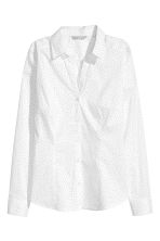 Fitted shirt - White/Spotted -  | H&M CA 2