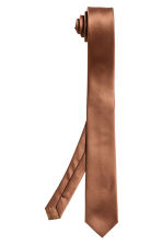 Satin tie - Rust brown - Men | H&M 2