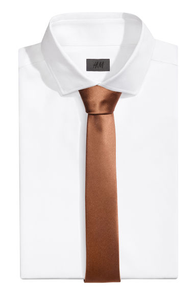 Satin tie - Rust brown - Men | H&M 1