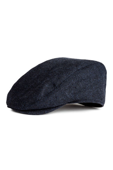 Flat cap - Dark blue - Men | H&M CN 1
