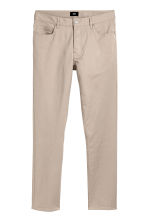 Twill trousers Slim fit - Light beige - Men | H&M CN 2