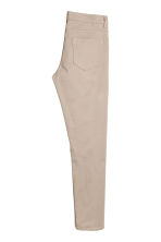 Twill trousers Slim fit - Light beige - Men | H&M CN 3