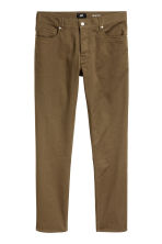Twill trousers Slim fit - Khaki - Men | H&M 2