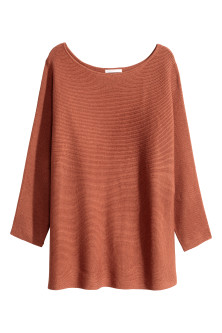 Rib-knit jumper