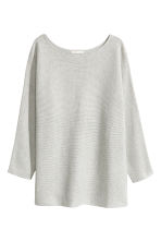 Rib-knit jumper - Light grey marl - Ladies | H&M GB 2