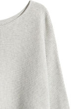 Rib-knit jumper - Light grey marl - Ladies | H&M GB 3
