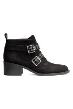 Ankle boots with studs - Black - Ladies | H&M 2
