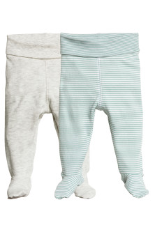 2-pack trousers with feet