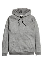Hooded top - Dark grey marl - Men | H&M CN 2
