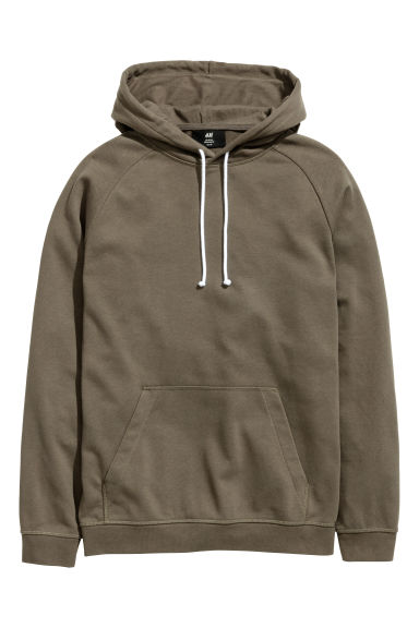 Hooded top - Khaki - Men | H&M