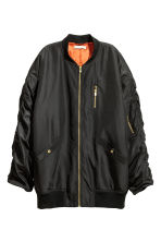Oversized bomber jacket - Black - Ladies | H&M 2