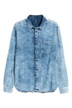 Washed denim shirt - Denim blue - Men | H&M 2