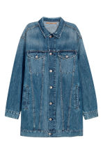 Long denim jacket - Dark denim blue - Ladies | H&M CN 2