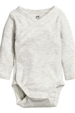 2-pack long-sleeved bodysuits - Mint green/Striped - Kids | H&M CN 2