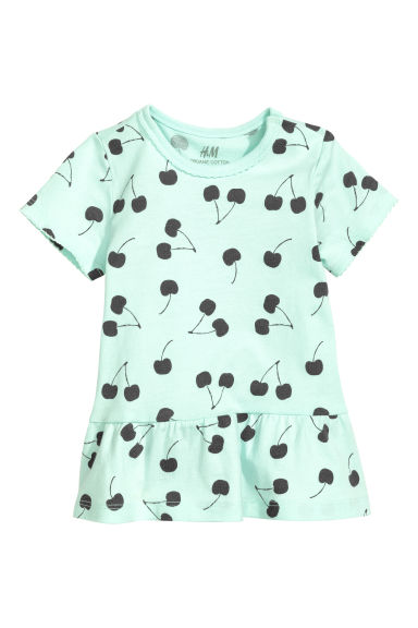 Flounced top - Mint green - Kids | H&M CA