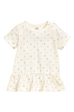 Flounced top - Nat. white/Spotted - Kids | H&M 1