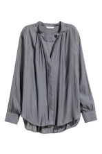 V-neck blouse - Dark grey - Ladies | H&M CN 2