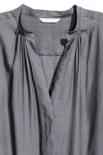 V-neck blouse - Dark grey - Ladies | H&M CN 3