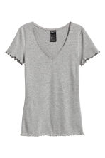 Pyjamas with shorts and top - Grey marl - Ladies | H&M 3