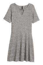 Ribbed jersey dress - Grey marl - Ladies | H&M CN 2