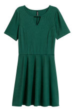 Ribbed jersey dress - Dark green - Ladies | H&M CN 2