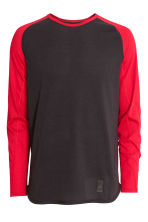 Sports top - Black/Red - Men | H&M CN 2