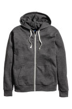Hooded jacket - Anthracite/Grey marl -  | H&M 2