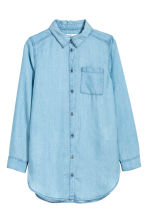 Lyocell denim shirt - Light denim blue - Kids | H&M CN 2