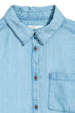 Lyocell denim shirt - Light denim blue - Kids | H&M CN 3