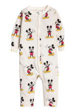 2-pack all-in-one pyjamas - Natural white/Mickey Mouse - Kids | H&M CN 3