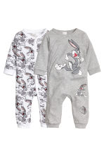Lot de 2 pyjamas - Blanc/Looney Tunes - ENFANT | H&M FR 1