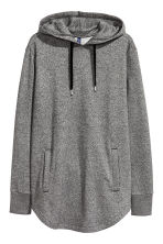 Long hooded top - Dark grey marl - Men | H&M CN 2