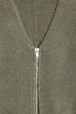 Zipped cardigan - Khaki green - Ladies | H&M 3