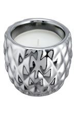 Candela in vasetto di ceramica - Argentato/ananas - HOME | H&M IT 2