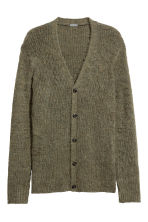 V-neck cardigan - Khaki green marl - Men | H&M CN 2