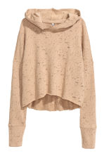Short hooded top - Beige - Ladies | H&M CN 2