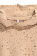 Short hooded top - Beige - Ladies | H&M CN 3