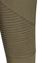 Jersey biker leggings - Khaki green - Ladies | H&M CN 3