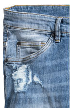 Skinny Low Trashed Jeans - Denim blue - Men | H&M 4