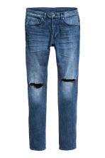 Skinny Low Trashed Jeans - Blu denim scuro - UOMO | H&M IT 2