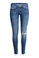 Super Skinny Low Jeans - Denim blue trashed - Ladies | H&M 2
